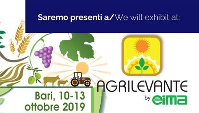 AGRILEVANTE – BARI 10-13 OTTOBRE 2019