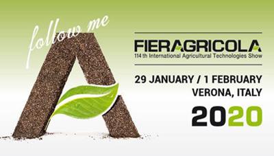 VERONA – ITALY – FIERAGRICOLA – 29 GENNAIO – 1 FEBBRAIO 2020